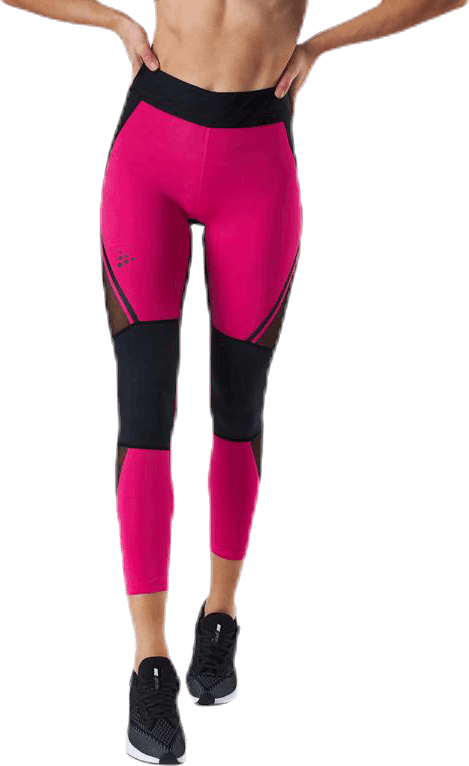 Charge Mesh Tights Pink/Black