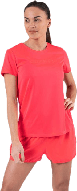 Core Essence SS Mesh Tee Pink