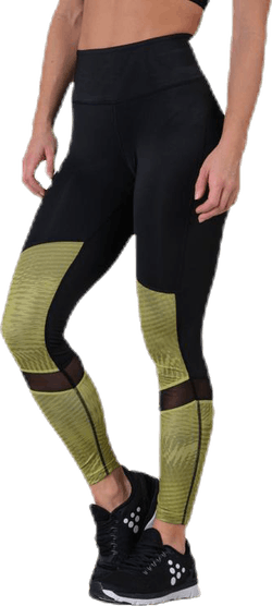 UNMTD High Waist Tights Black/Yellow