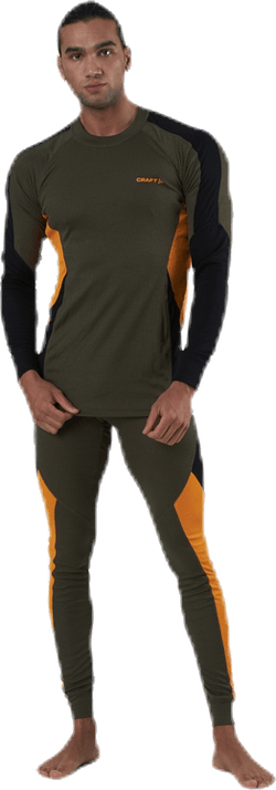 Core Dry Baselayer Set Orange/Green