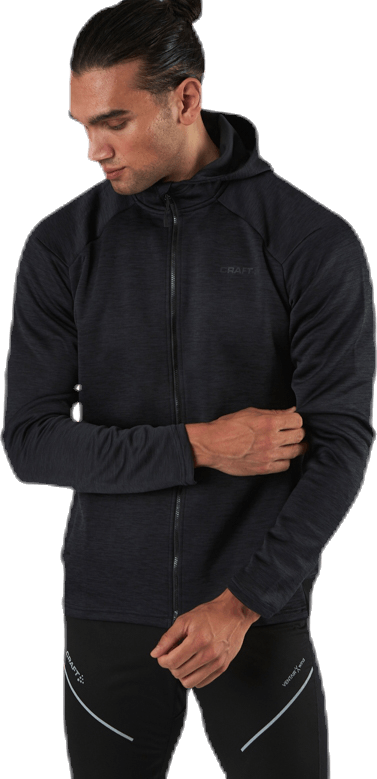 ADV Charge Zip Hood Jkt Black