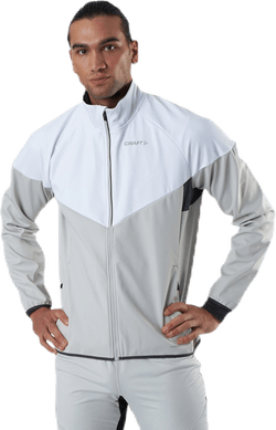 Glide Block Jacket White/Grey