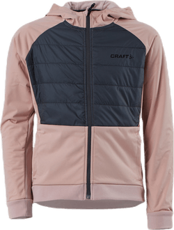 Adv Thermal XC Hood Jacket Jr Pink/Grey
