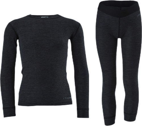 Core Wool Merino Set Jr Black