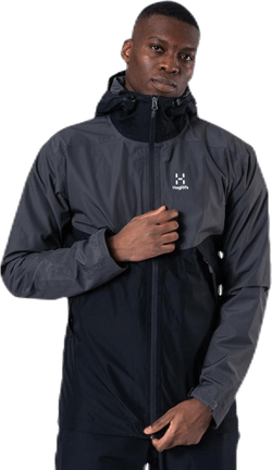 Mila Rain Jacket Black/Grey