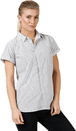 Idun SS Shirt Patterned/White