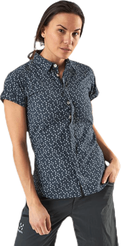 Idun SS Shirt Blue/Patterned