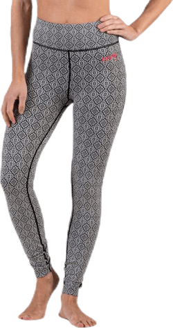 Spin To Win Mid Layer Tights White/Black