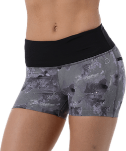 Bow Shorts Patterned/Grey