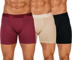 Legend Organic Boxer 3-Pack Black/Red