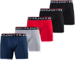 St Paul Bamboo Boxer 5-Pack Black/Grey/Red