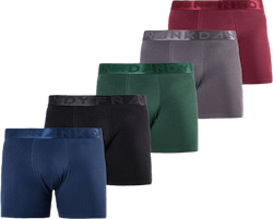 Legend Organic Boxer 5-Pack Green/Black/Red