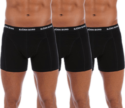 Solid Shorts 3-Pack Black