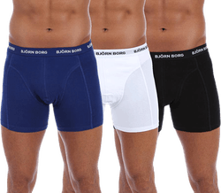 Solid Shorts 3-Pack Blue/White/Black