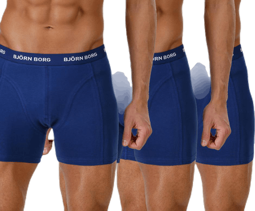 Solid Shorts 3-Pack Blue