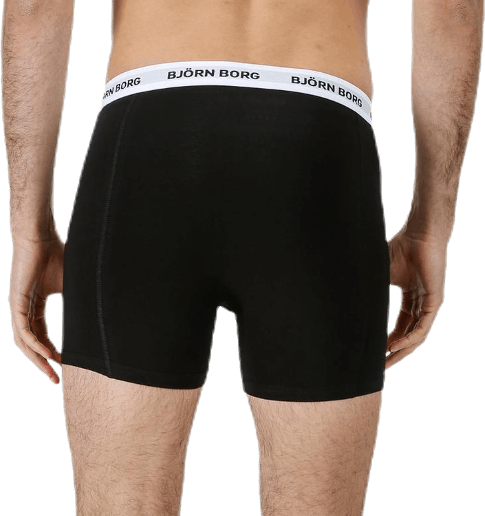 Solid Contrast Shorts 3-pack Black