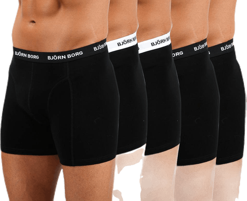 Solid Shorts 5-Pack Black