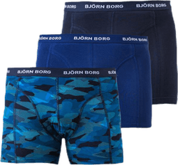 Shadeline Shorts 3-Pack Blue/Patterned/Black