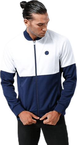 Signature Blocked Track Jacket Blue/White