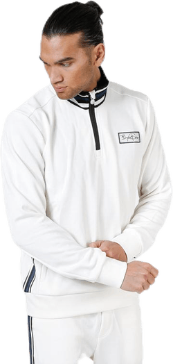 Signature Half Zip Track Jacket White