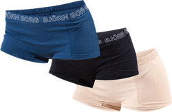 Solid Minishorts 3-Pack Blue/Black/Beige