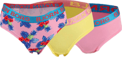 Paradise Mini Hipster 3-Pack Junior Pink/Yellow