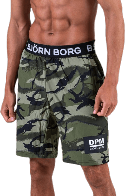 August Shorts Patterned/Green