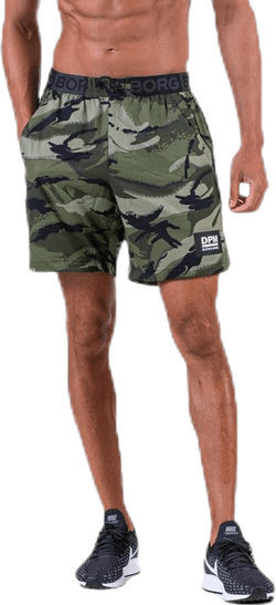 "Attis Woven Shorts 7"" Patterned/Green"