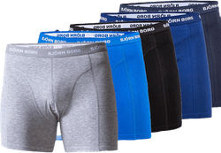 Solid Shorts 5-Pack Blue/Patterned