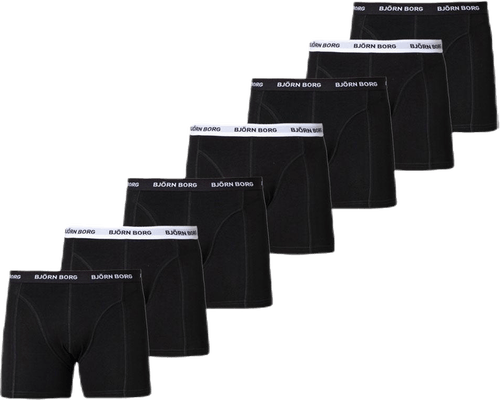 Shorts Solid 7-pack Black