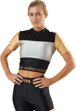 Cylie Cropped Tee Black/Gold