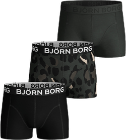 Gigant Leo Sammy Shorts 3-Pack Jr Black/Green