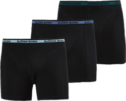 Sammy Solid Shorts 3-Pack Black