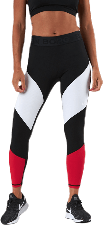 Cadence Blocked Tights Red