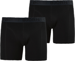 Sammy Solid Shorts 2-Pack Black