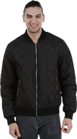 Quilted Bomber Black