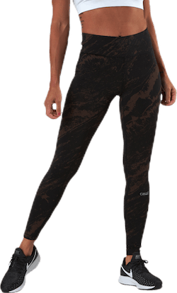Classic Printed 7/8 Tights Brown/Black