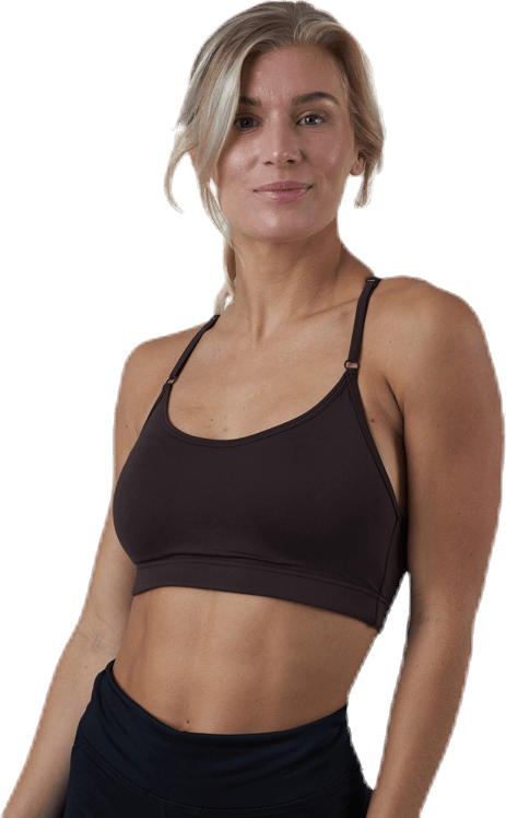 Strappy Sports Bra Brown