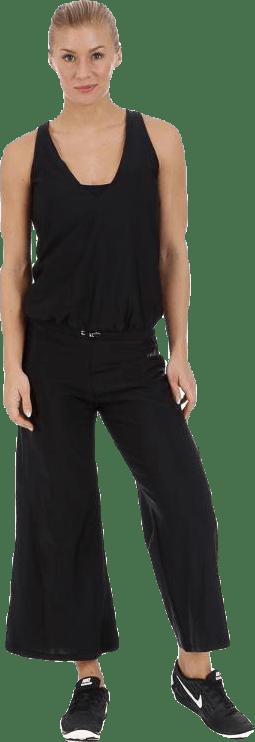 Lacing jumpsuit Black