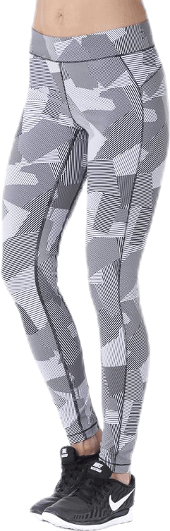 Graphic line tights White
