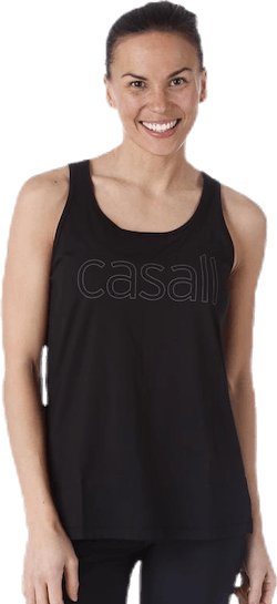 Logo Relaxed Tank Black