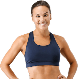 Iconic Wool Sports Bra Blue