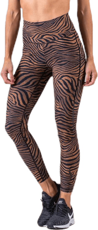 Sculpture Heritage Tiger Tights Brown/Yellow