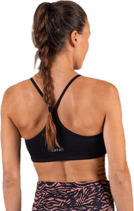 Strappy Sports Bra Black