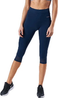 Synergy 3/4 Tights Blue