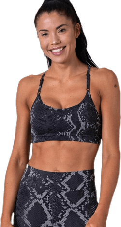 Strappy Sports Bra Grey