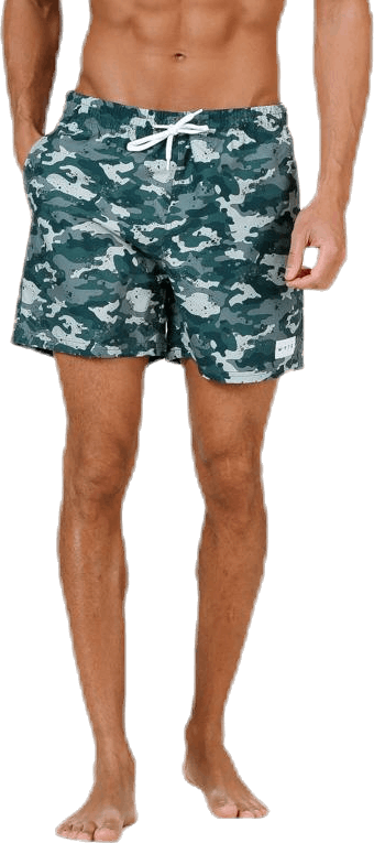 Louie Swim Trunks Patterned/Green