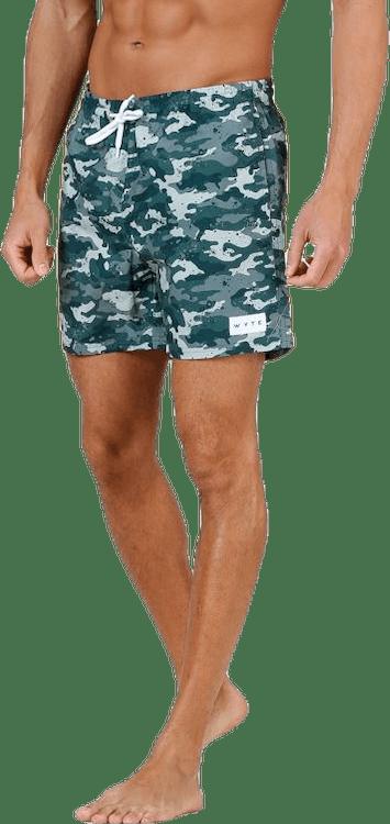 Louie Swim Trunks Patterned/Green
