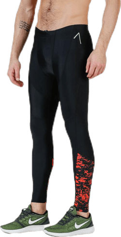 Brace Compression Tights Black/Red