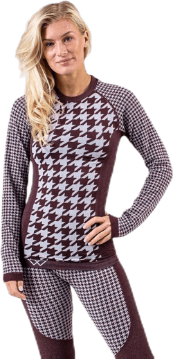 Agnes Top Purple/Brown